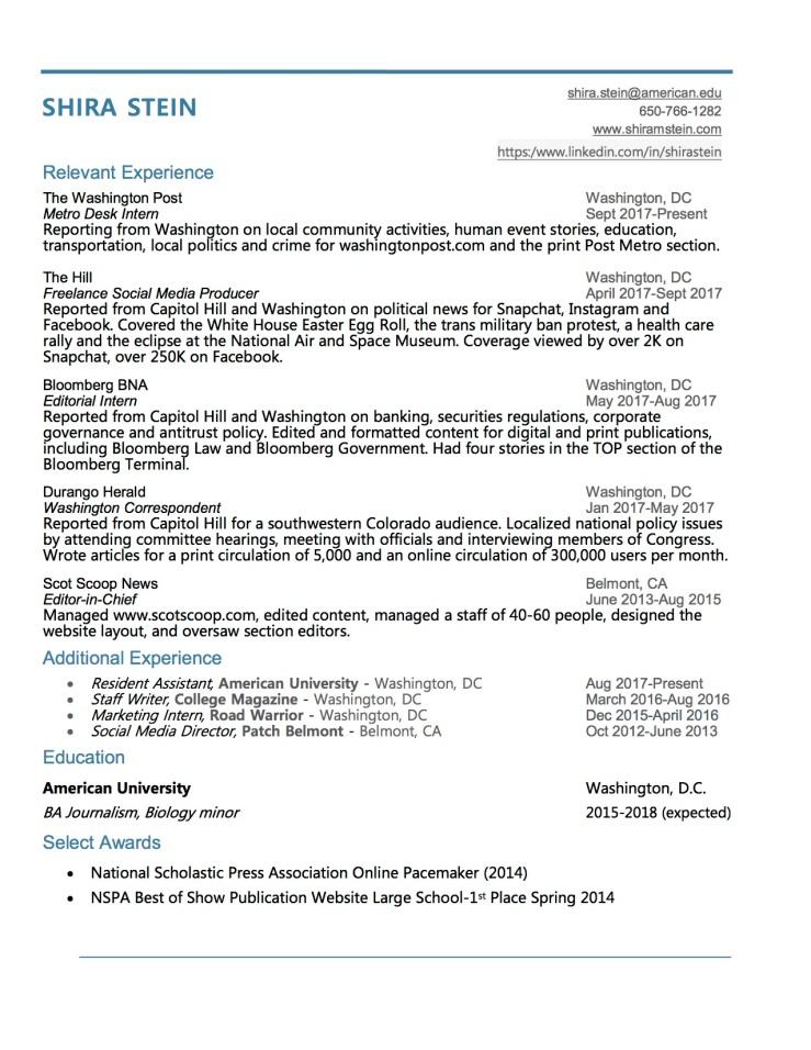 Shira Stein_Resume